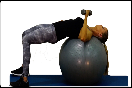 Single-Arm Chest Press Stability Ball