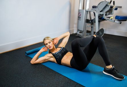 Laura M. Howell Side Crunches: No More Excuses Fitness Training: www.nmefitnesstraining.com