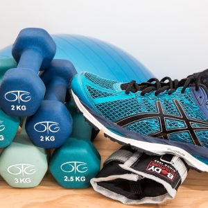 No More Excuses Fitness Training: www.nmefitnesstraining.com: Sneakers, blue dumbbells and ball: The 2 Most Important Elements in Reaching Your Fitness Goals: Planning and Scheduling Your Workouts