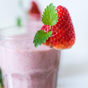 10 Healthy Snacks to Eat in the Afternoon: Strawberry protein shake: NO More Excuses Fitness Training: www.nmefitnesstraining.com